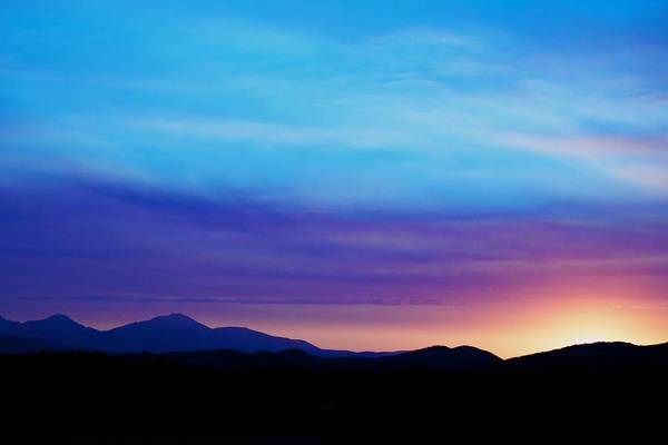 Sunset Art Print featuring the photograph Purple Evening by Kevin Bone