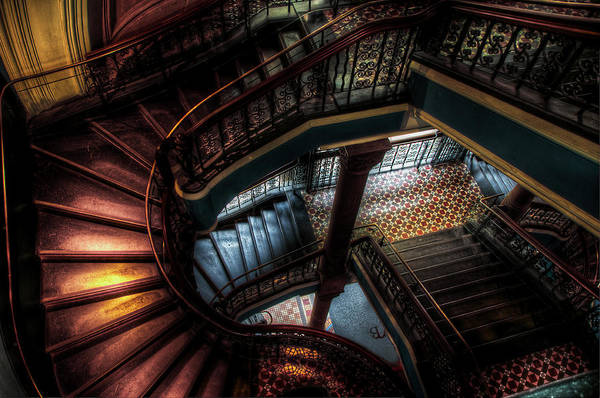 Staircase Art Print featuring the photograph Qvb Stairs by Andrew Dickman