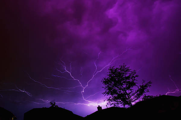 Lightning Art Print featuring the photograph The Lightning Spread by Lisa Spencer
