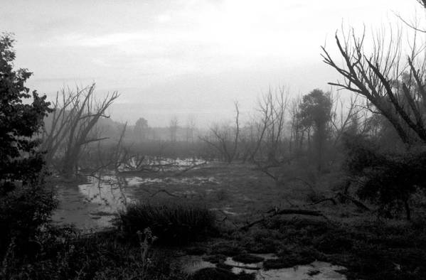 Atmospheric Art Print featuring the photograph 072806-23bw A Shortcut Through Mordor by Mike Davis