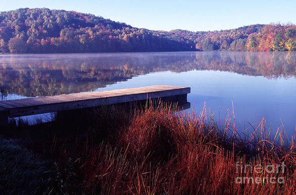Big Ditch Lake Art Print featuring the photograph Fall Morning On The Lake by Thomas R Fletcher