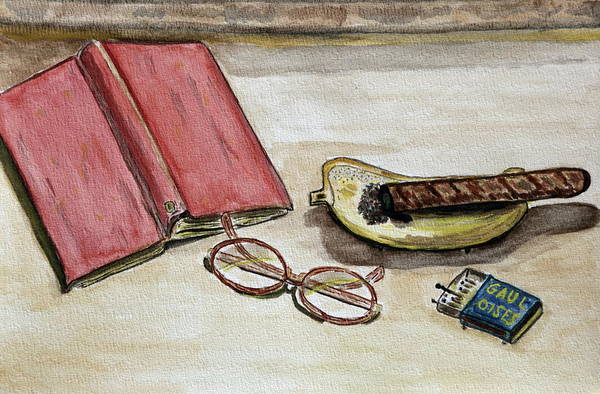 Book Art Print featuring the painting Without Words. by Shlomo Zangilevitch