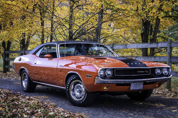 Challenger Art Print featuring the photograph 1970 Dodge Challenger Rt by Expressive Landscapes Fine Art Photography by Thom