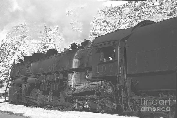 B-w Print Art Print featuring the photograph Steam Engine by Greg Payne