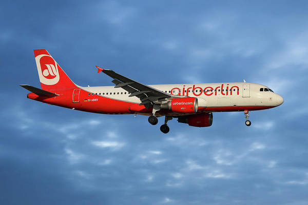 Air Berlin Art Print featuring the photograph Air Berlin Airbus A320-214 by Smart Aviation