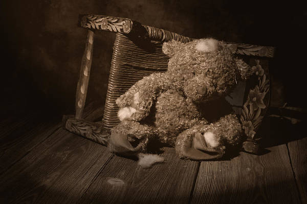 Teddy Bear Art Print featuring the photograph A Child Once Loved Me by Tom Mc Nemar