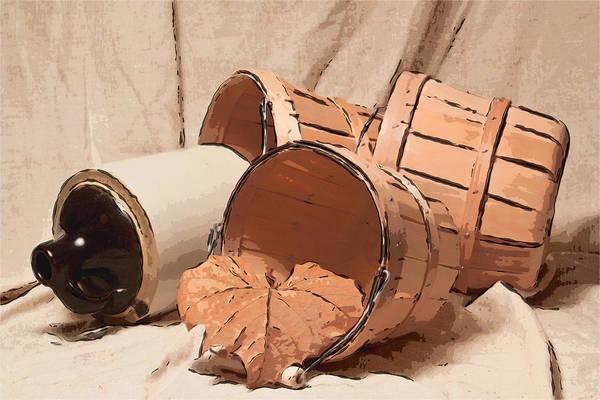 Basket Art Print featuring the photograph Baskets With Crock II by Tom Mc Nemar