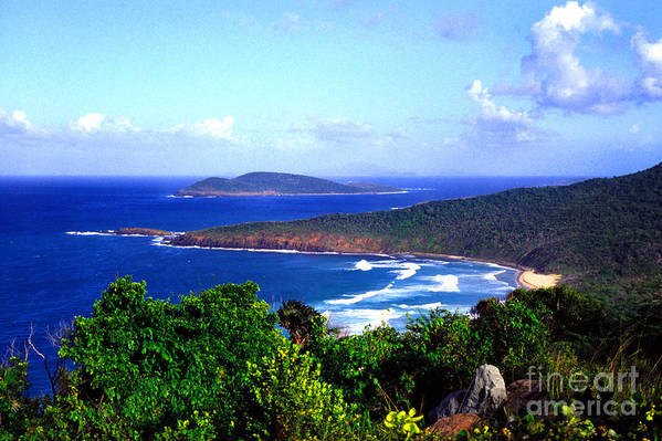 Culebra Art Print featuring the photograph Beach And Cayo Norte From Mount Resaca by Thomas R Fletcher