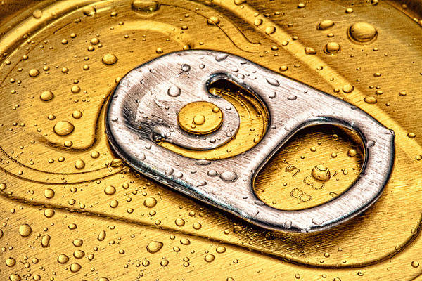 Can Art Print featuring the photograph Beer Can Pull Tab by Tom Mc Nemar