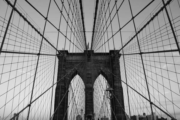 Brooklyn Bridge Art Print featuring the photograph Brooklyn's Web by Joshua Francia