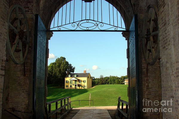 Original Art Print featuring the photograph Colonial View Of Fort Washington by Cathy Mounts