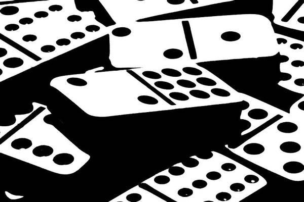 Dominoes Art Print featuring the photograph Dominoes IIi by Tom Mc Nemar
