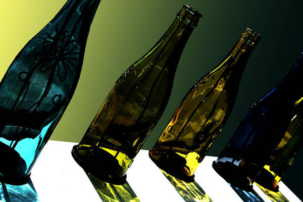 Bottle Art Print featuring the photograph Glassworks by Barbara White