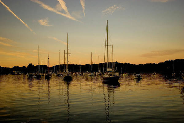 Manchester Harbor Art Print featuring the photograph Harbor Sunset by Jack Foley