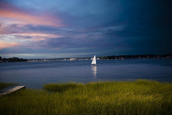 Ocean Art Print featuring the photograph Harborview Sunset by Joshua Francia