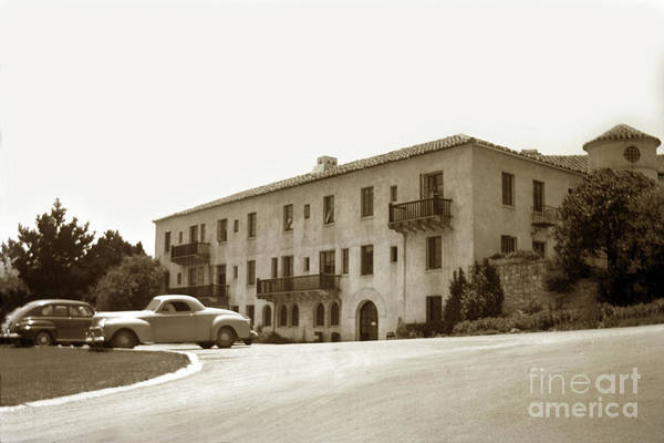 Monterey Hospital Art Print featuring the photograph Monterey Hospital Was Built In 1930 At 576 Hartnell St, Monterey by California Views Archives Mr Pat Hathaway Archives