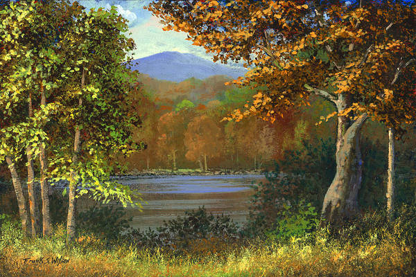 Landscape Art Print featuring the painting Mountain Pond by Frank Wilson