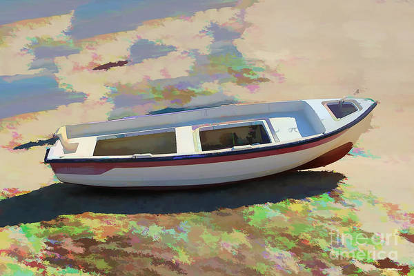 Boat Image Art Print featuring the photograph On The Beach Mykonos Greece by Tom Prendergast