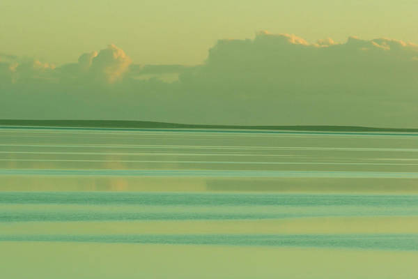Sunset Art Print featuring the photograph Pastel Sunset Sea Green by Tony Brown