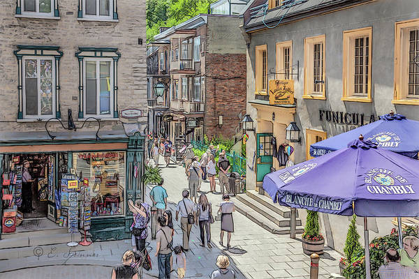 Quebec City View 24 by Erwin Spinner