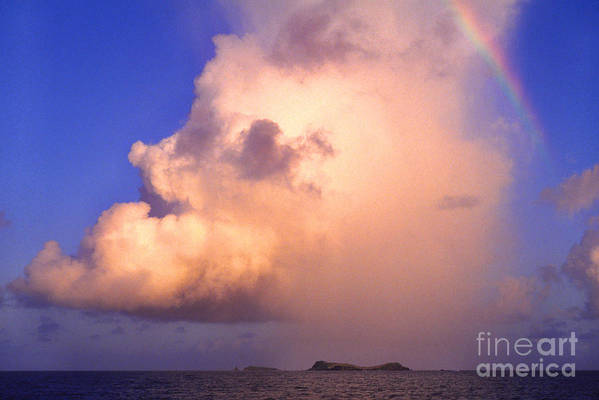 Culebra Print featuring the photograph Rain Cloud And Rainbow by Thomas R Fletcher