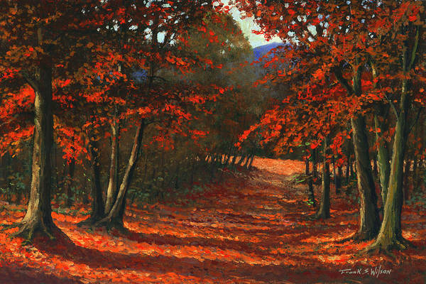 Landscape Art Print featuring the painting Road To The Clearing by Frank Wilson