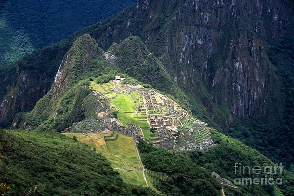 Machu Picchu Art Print featuring the photograph Sacred City Of Machu Picchu by James Brunker