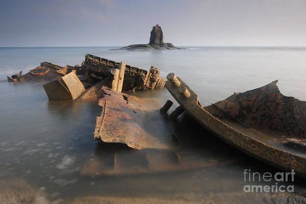 Saltwick Bay Art Print featuring the photograph Saltwick Bay by Smart Aviation
