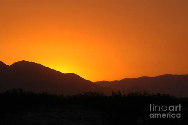 Sunset Art Print featuring the photograph San Jacinto Dusk Near Palm Springs by Michael Ziegler