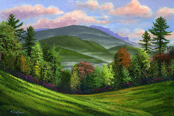 Landscape Art Print featuring the painting Spring Time by Frank Wilson