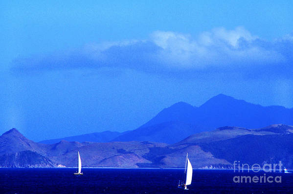 West Indies Art Print featuring the photograph St Kitts Sailboats by Thomas R Fletcher