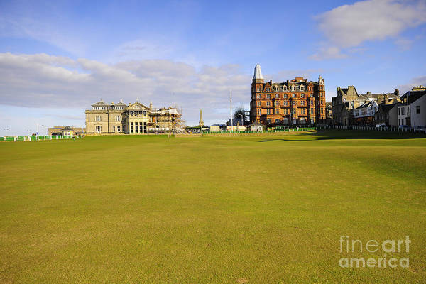 St Andrews Art Print featuring the photograph The 18th by Smart Aviation