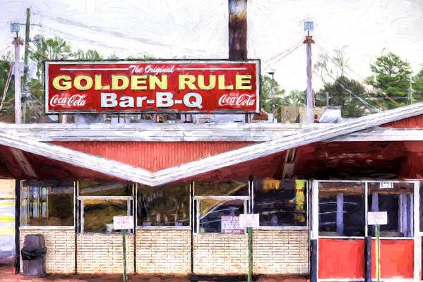 Birmingham Art Print featuring the photograph The Golden Rule Bbq In Birmingham by JC Findley