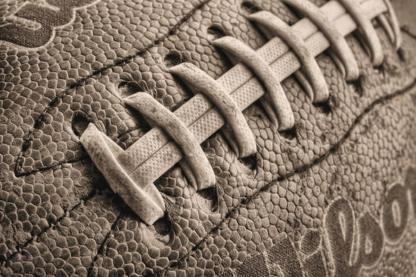 Football Art Print featuring the photograph The Path Bw by JC Findley