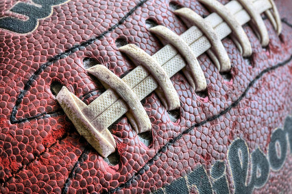 Football Print featuring the photograph The Path by JC Findley