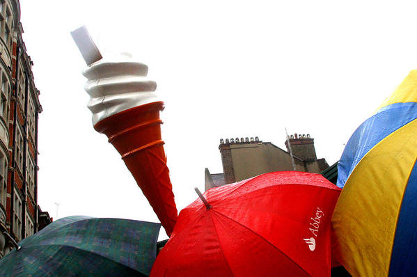 Jez C Self Art Print featuring the photograph The Wrong Day For Ice Cream by Jez C Self