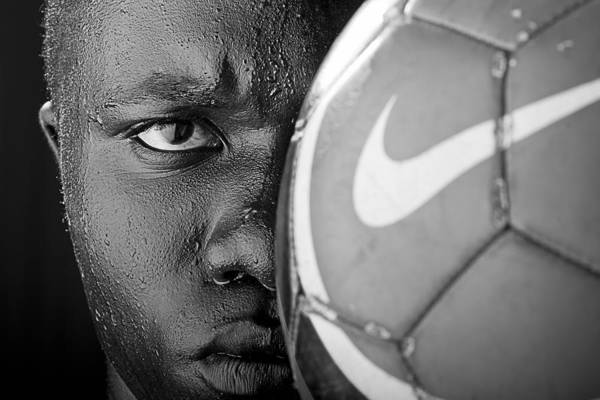 Soccer Print featuring the photograph Tough Like A Nike Ball by Val Black Russian Tourchin