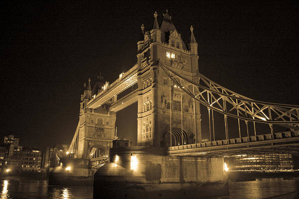 London Art Print featuring the photograph Tower Bridge Of London by Joshua Francia