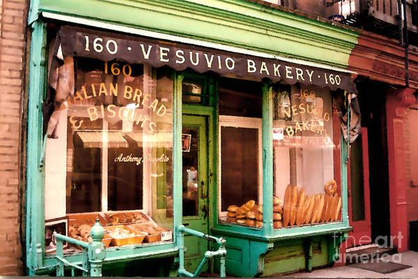 Abstract Art Print featuring the photograph Vesuvio Bakery by Linda Parker
