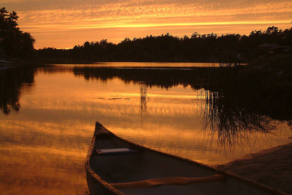 Canoe Art Print featuring the photograph Waiting For Me by Linda McRae