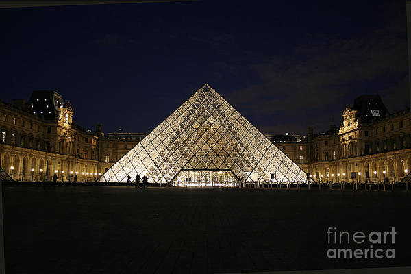 Louvre Museum Art Print featuring the photograph Welcome To The Louvre by Joshua Francia