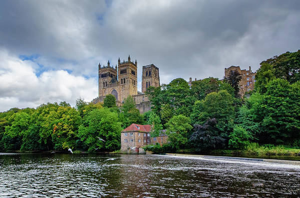 Durham Cathedral Art Print featuring the mixed media Durham Cathedral by Smart Aviation