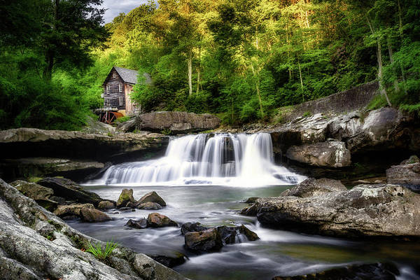 Glade Art Print featuring the photograph Glade Creek Grist Mill Waterfall by Tom Mc Nemar