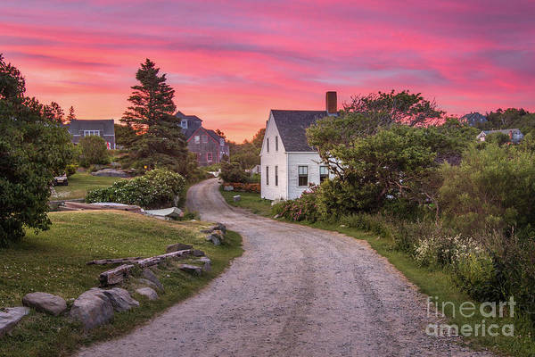 Art Art Print featuring the photograph Monhegan Island Maine by Benjamin Williamson