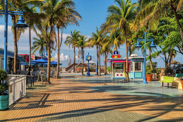 Florida Art Print featuring the photograph Times Square In Fort Myers Beach Florida by Tom Mc Nemar