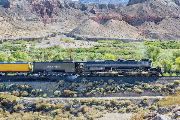 Afton Canyon Art Print featuring the photograph Up4014 Big Boy by Jim Thompson