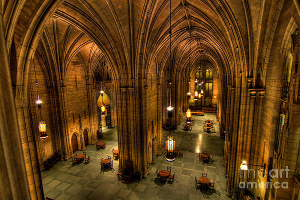 Allegheny County Print featuring the photograph Commons Room Cathedral Of Learning University Of Pittsburgh by Amy Cicconi