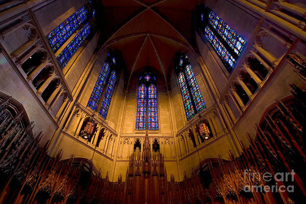 Allegheny County Print featuring the photograph Heinz Memorial Chapel Pittsburgh Pennsylvania by Amy Cicconi