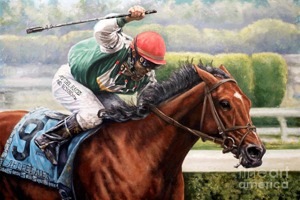 Art Print featuring the painting Afleet Alex by Thomas Allen Pauly