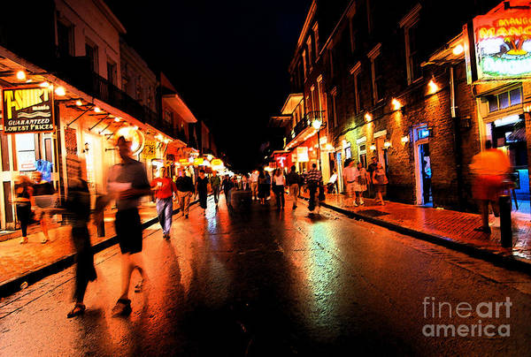 Bourbon Street Art Print featuring the photograph Bourbon Street At Dusk by Thomas R Fletcher